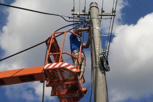 Výškové práce a elektroinštalácie z vysokozdvižnej plošiny